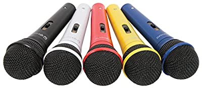 QTX 173.854UK Coloured Microphones (Set of 5)