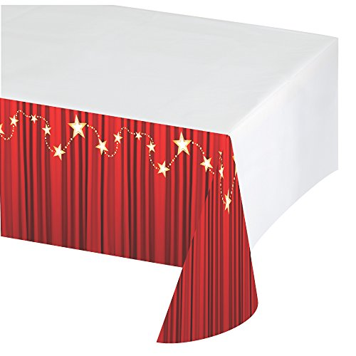 Creative Conversion d'Hollywood Lampes de table plastique Coque avec bordure Impression, 137,2 x 259,1 cm, Rouge/blanc