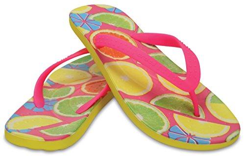 Crocs Unisex Schuhe Herren und Damen 204159 Chawaii Fruit Flip Gelb