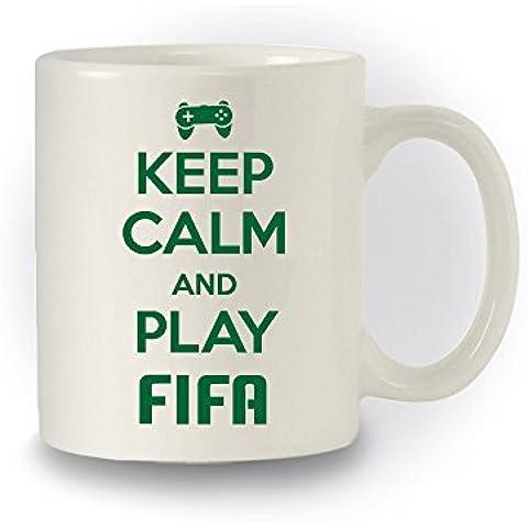 Para videojuegos' Keep Calm And Play de fútbol para ' estilo taza