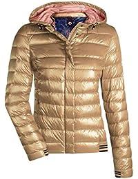 MILESTONE Damen Daunenjacke Steppjacke Übergangsjacke Herbst Winter Jacke  mit Kapuze Rosa Pink Rot Orange Gold Navy 223e99b0a5