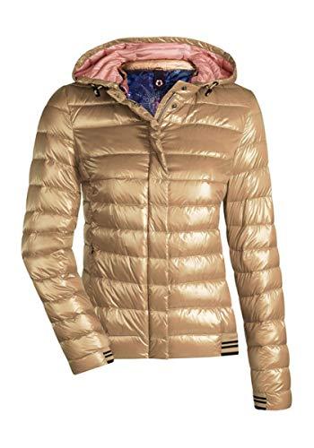 8373acb283225b MILESTONE Damen Daunenjacke Steppjacke Übergangsjacke Herbst Winter Jacke  mit Kapuze Rosa Pink Rot Orange Gold Navy