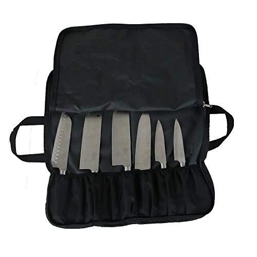 Coltello tascabile multiuso roll bag Oxford bauletto portautensili con 14schede con zip anteriore facilmente trasportabile da Handle Knife Holder 50x 22,6cm Inchs hgj17-k