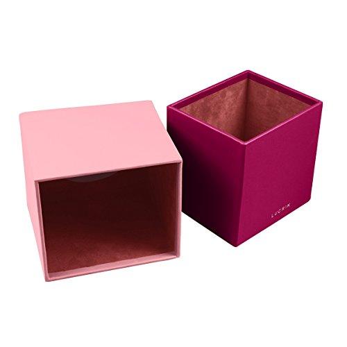Lucrin - Quadratischer Kosmetiktuchbehälter - Weiss - Glattleder Klares