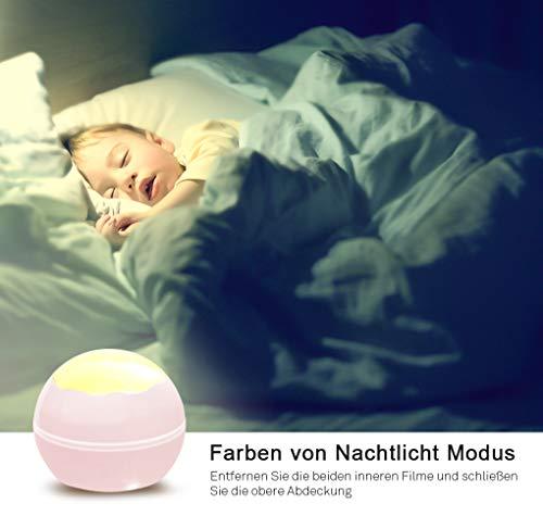 Upgrow Baby Nachtlicht, 2 in 1 LED Sternenlicht Projektor, 8-Farbwechsel & 360°drehbare Tischlampe für Kinderzimmer, Schlafzimmer - Tischlampe, Sternenlicht, Schlafzimmer, rosa, Projektor, Projektionslampe, Party, nachtlicht baby, Nachtlicht, Kinderzimmer, Geburtstag, Dekor, Baby