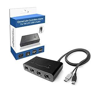 VDROL Gamecube Controller Adapter, Controller Adapter für Nintendo Switch, Unterstützt Turbo Homefür Wii U/Nintendo, PC…