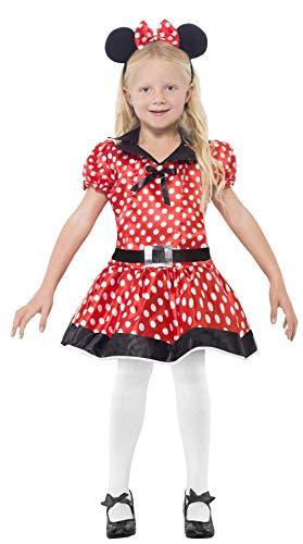 Smiffys Kinder Süße Maus Kostüm, Kleid, Gürtel und Haarreif, Größe: S, (Voll Minnie Maus Kostüm)