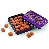 Chocolate Amatller Amatllons - Almendra Marcona caramelizada, chocolate blanco y cacao en polvo caja metal - 2 de 65 gr. (Total 130 gr.)