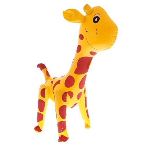 MagiDeal Enfant Jouet Gonflable Animaux Blow Up Jeux de Jardin Piscine Party Faveur Décoration - Girafe