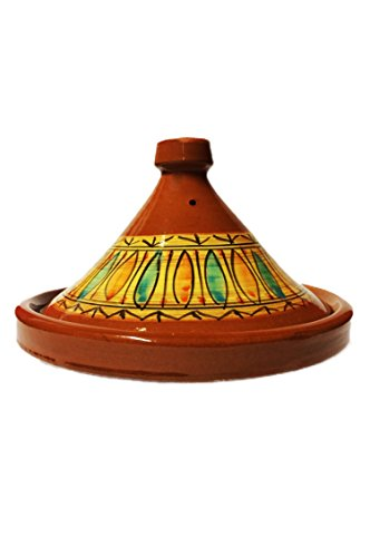 Marokkanische Tajine Topf zum Kochen | Schmortopf glasiert Gulnar Ø30cm 4-5 Personen | inklusive...