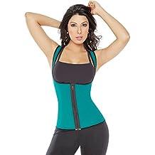 Ifyou sport esterno ultra Sweat fitness stretto gilet reversibile cintura in vita Trainer Girdle corsetto sottoseno shapewear, donna, Blue, S