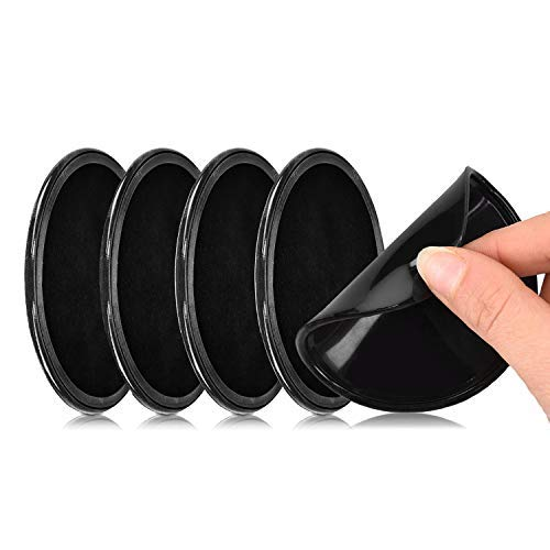Sameny 5 pezzi cuscinetti adesivi gel universali,cuscinetti gel in silicone antiscivolo a doppia faccia neri,ideale come supporto per telefoni cellulari o dispositivi gps
