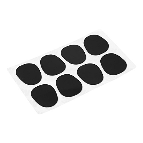 Bocchino patch, bocchino patch Pad cuscini per sassofono soprano, alto tenore sax clarinetto, Big Oval 0.5mm Black
