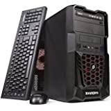Zoostorm Tempest Gaming Desktop PC with Red LED (Black) - (AMD A10-7850K Processor, 8 GB RAM, 1 TB Hard Drive, AMD Radeon R7 Graphics, DVD/RW)