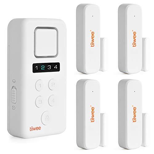 tiiwee Home Alarm System Wireless X3-XL Kit - Komplette DIY Alarmanlage mit X3-Sirene, 4 Fenster- & Tür Sensoren - Fensteralarm Türalarm - Pincode Gesichert - 2 Jahre Garantie