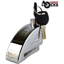 Target Locks, blocca disco con allarme per motorino, moto, scooter e bicicletta