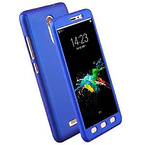 Ipaky 360 Degree Front & Back Cover With Tampered Glass For Xiaomi Redmi 3S Prime Blue