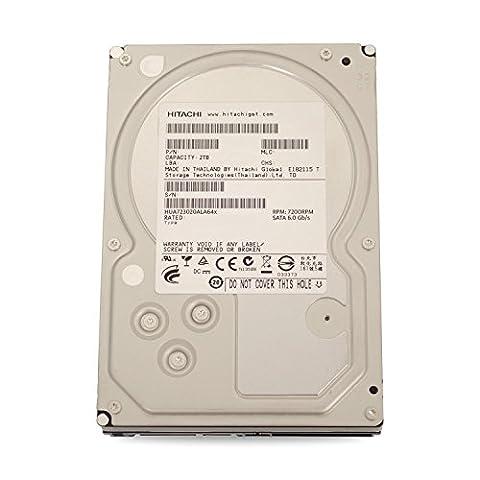 Hitachi HGST UltraStar 7K3000 interne Festplatte, 3,5 Zoll / 8,9cm, SATA, 7200RPM für NAS RAID 24x7 Enterprise (Zertifiziert und Generalüberholt), Kapazität:2.000GB (2TB)