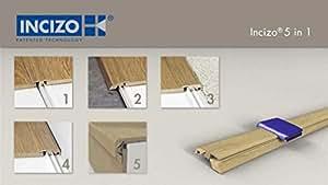 Quickstep Threshold Door Bar Incizo 5 in 1 - Largo Range (Cambridge Oak Natural) by Quickstep Incizo