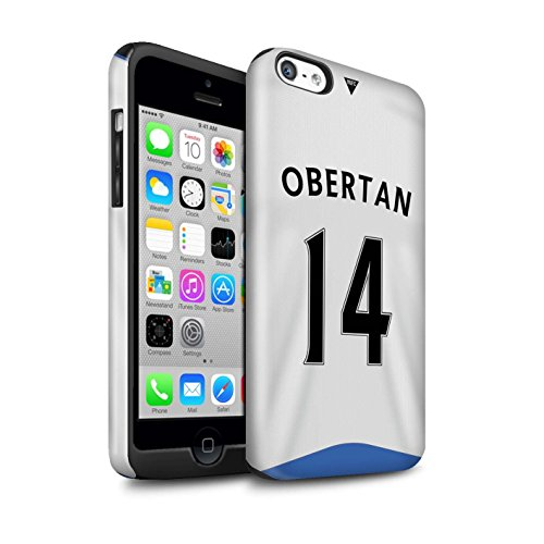 Offiziell Newcastle United FC Hülle / Glanz Harten Stoßfest Case für Apple iPhone 5C / Pack 29pcs Muster / NUFC Trikot Home 15/16 Kollektion Obertan