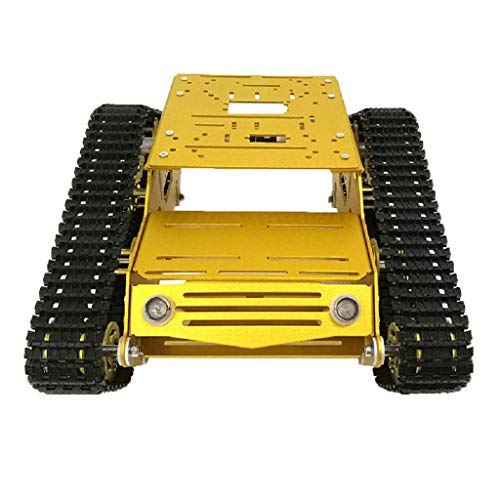 Homyl YP100 Smart Panzer Plattform Metall Aluminiumlegierung mit 9V/ 12V Motor - 9V Motor mit Encoder