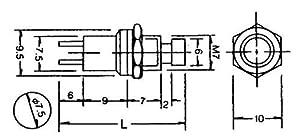 Gaugemaster GM-BPGM517 - Interruptor de pulsación para Hacer interruptores (25 Unidades), Color Blanco