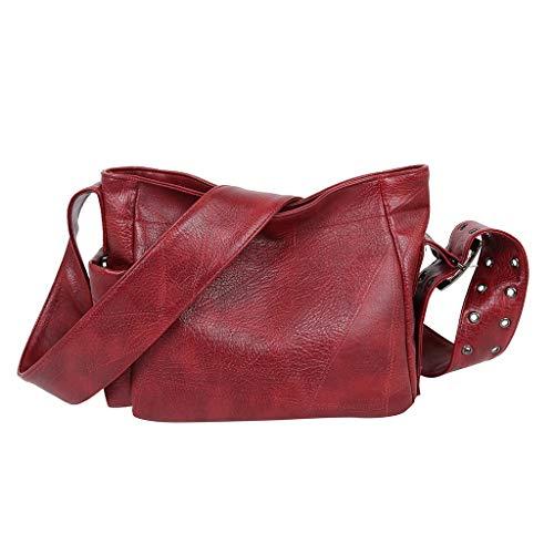 9b7c75e00c851 Moonuy Women'S Solid Color Large-Capacity Shoulder Bag Casual Wild Messenger  Bag,Artificial Leather