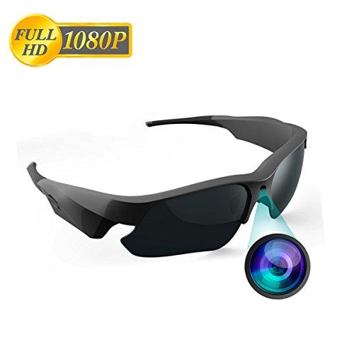Sonnenbrille Kamera, Jiyibidi Full HD 1080P Videokamera mit UV-Schutz polarisierte Linse, Unisex-Design für Sport, Angeln, Motorrad