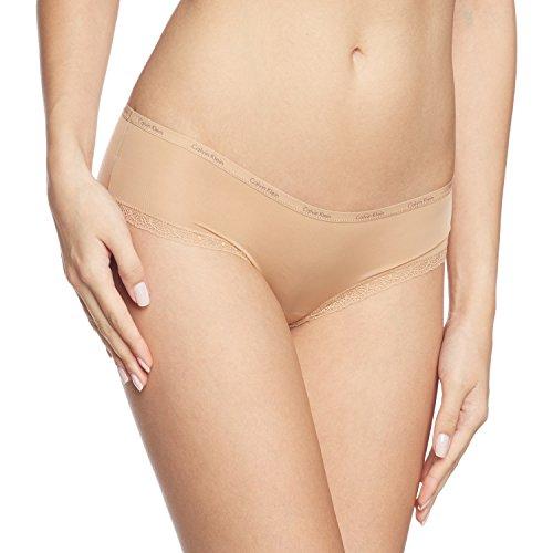 Calvin Klein Damen Hipster BOTTOMS UP, Einfarbig, Gr. 36 (Herstellergröße: S), Beige (BUFF 2BU) -