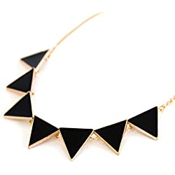 Collar de cadena Declaración de Mujeres para la joyería del partido en negro del MyBeautyworld24 marca