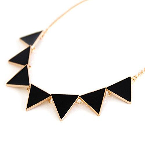 Damen Statement Kette Halskette für Party Schmuck Accessoire Modeschmuck in schwarz