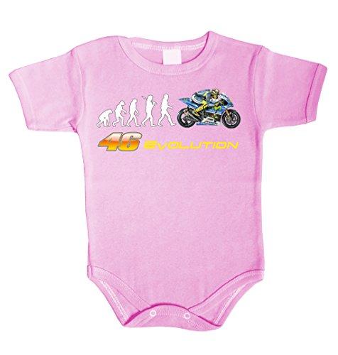 Tradebox Biker EVOLUTION T-Shirt Yamaha M1 R1 Moto GP Valentino Rossi:46 The Doctor Fan Baby Body Mädchen Babykleidung Strampler Unterwäsche Geschenk (74 (6-12 m), - 10m Yamaha