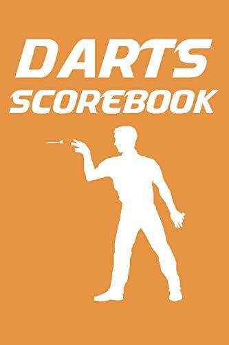 Darts Scorebook: 6x9 darts scorekeeper with checkout chart and 100 scorecards