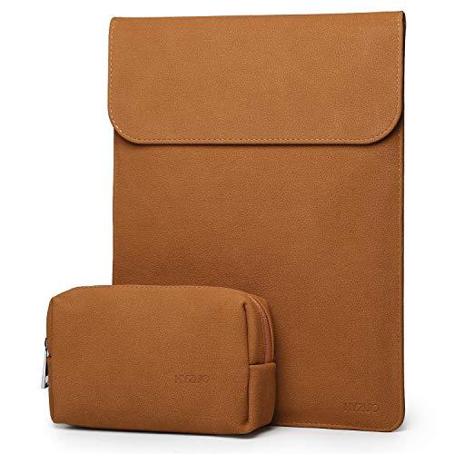 HYZUO 13 Zoll Laptop Hülle Tasche Wasserdichte Laptophülle Laptoptasche Notebooktasche mit kleine Tragetasche, Braun