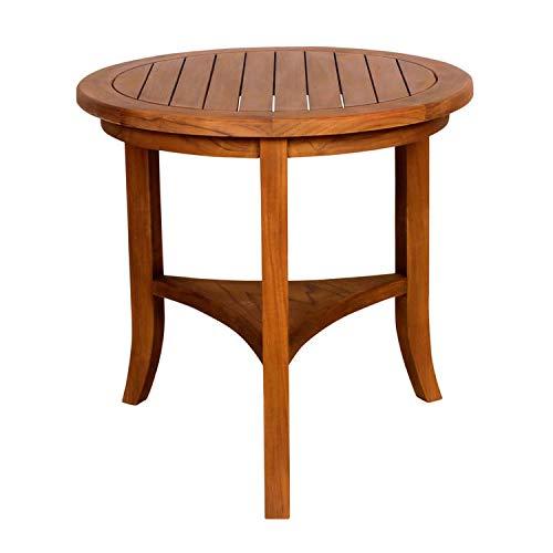 Table guéridon en Teck D65 cm Gris WAHO
