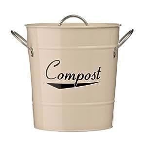 Komposteimer, Stahl Galvanisch Verzinkt (Pulverbeschichtet), Zink, Griffe Kunststoff, Schöne Qualität