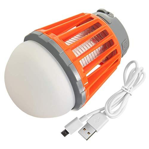 Guomvp USB-Lade-Moskito-Mörder-Lampe Moskito Zapper Laterne Camping Licht Mehrzweck-Schädlingsbekämpfer Wasserdicht Bug Killer Orange -
