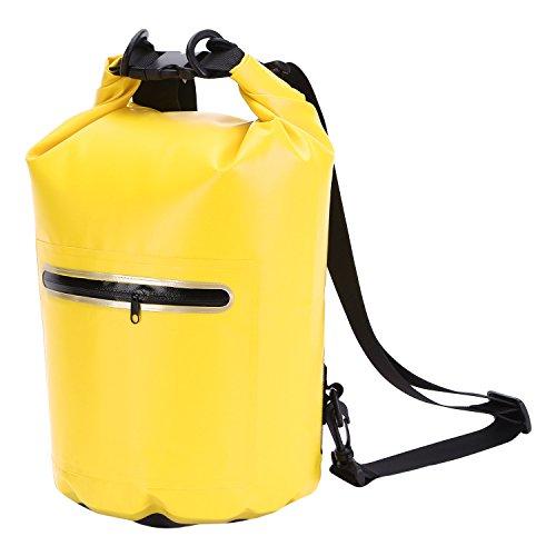 MeOkey 10L Dry Bag Dry Back Pack Duffel Bag Bolsa Impermeable con Correa de Hombro Ajustable para Practicar Surf Remar Pesca Rafting en Barco Kayak y natación