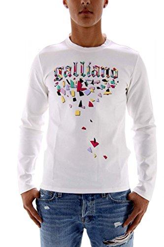 John galliano uomo sweat-shirt bianco l