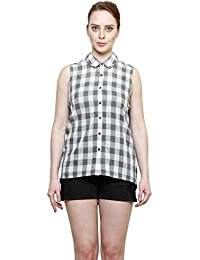 Women Box Check Shirt by I Am For You