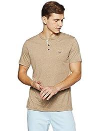 Park Avenue Beige Regular Cotton Blend Tshirt