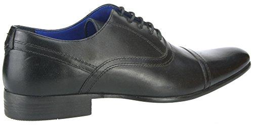 Ruban Rouge d'amande douce Noir ou Marron en Cuir pour Homme Rond Dentelle qualité formelle Chaussures Noir