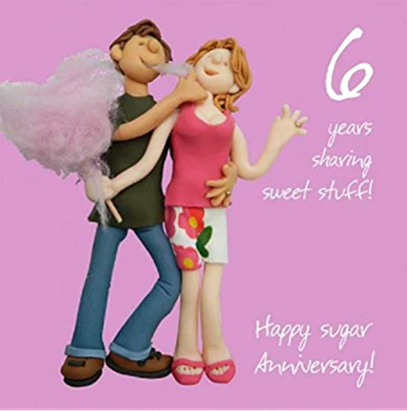 6th Wedding Anniversary Card Amazon Co Uk Office Products