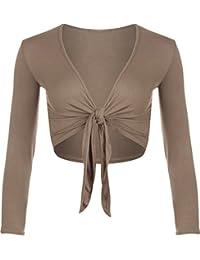 WearAll - Cardigan à manches longues avec un noeud - Hauts - Femmes - Tailles 36 à 42