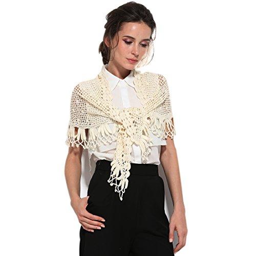 Womens Printed Knit (Zorjar Damen Schal One size Gr. One size, gebrochenes weiß)