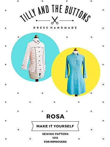 Tilly und die Knöpfe Rosa & Shirt Kleid Schnittmuster -
