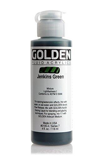 Malerei Acrylic Fluids Golden VII 119ml grün Jenkins–Golden