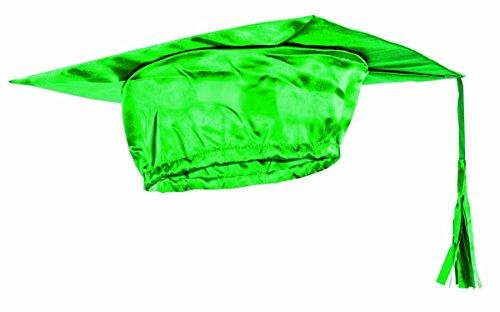 d Graduation Cap, Green, One Size ()