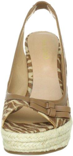 Via Uno Textil Synthetic Zebra Padova 21173601 Damen  Klassische Sandalen Braun (Camel/Camel)