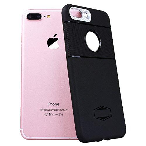 SMART LEGEND iPhone 7 Handyhülle mit Magnetische Auto Mount Weiche Silikon Hülle Eingebaute Magnet für KFZ Halter Autohaltung Schutzhülle Matte Bumper Crystal Kirstall Clear Etui Ultra Slim Design Gla Silber
